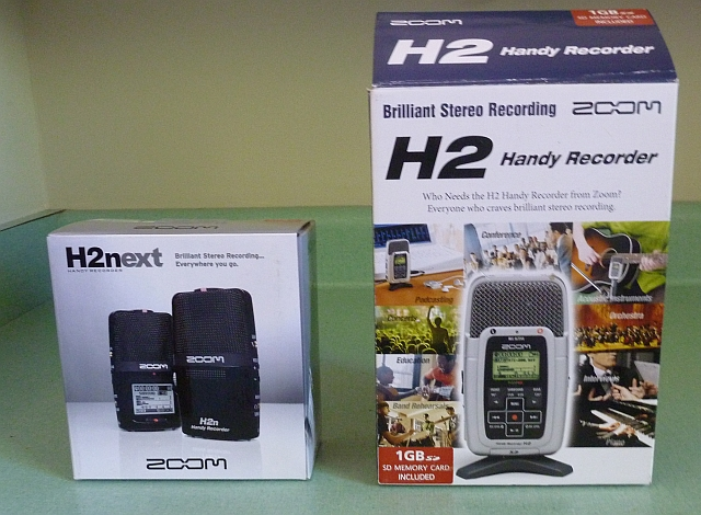 Zoom H2n and H2 Boxes side by side