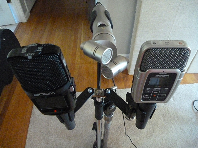 Mic and Recorders mounted side by side
