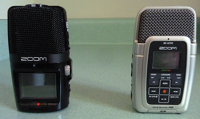 Zoom H2n and H2 side by side